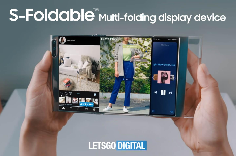 Samsung S-Foldable opvouwbare smartphone