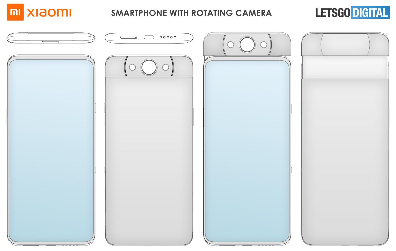 Xiaomi smartphone draaibare pop-up camera