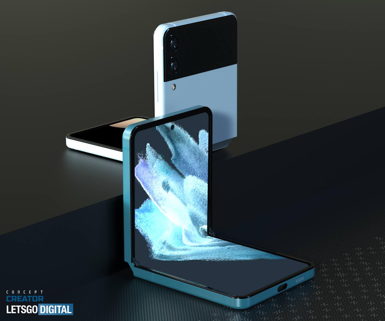 Z Flip smartphone