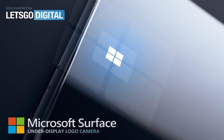 Microsoft Surface under-display camera