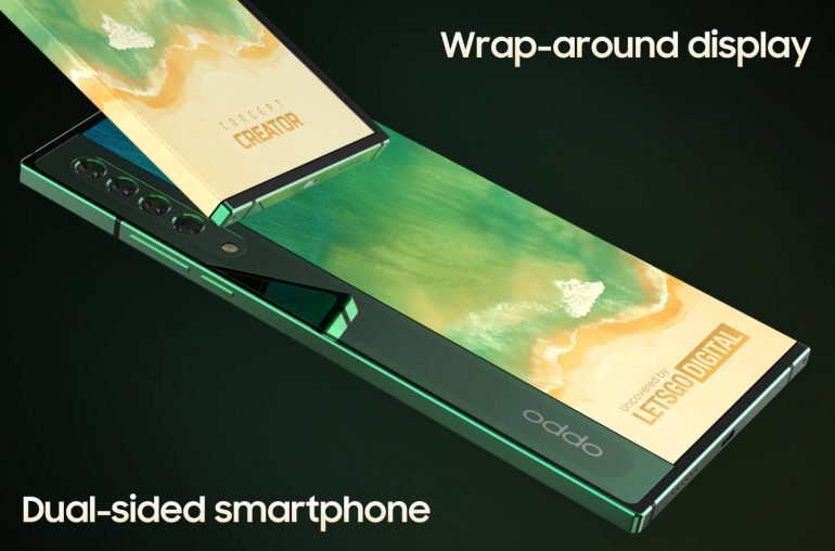 Oppo dubbelzijdige smartphone wrap-around display