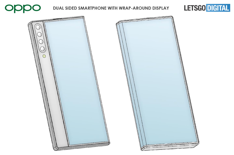 Oppo smartphone wrap-around display