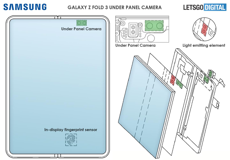 Samsung Galaxy Z Fold 3 Under Panel Camera