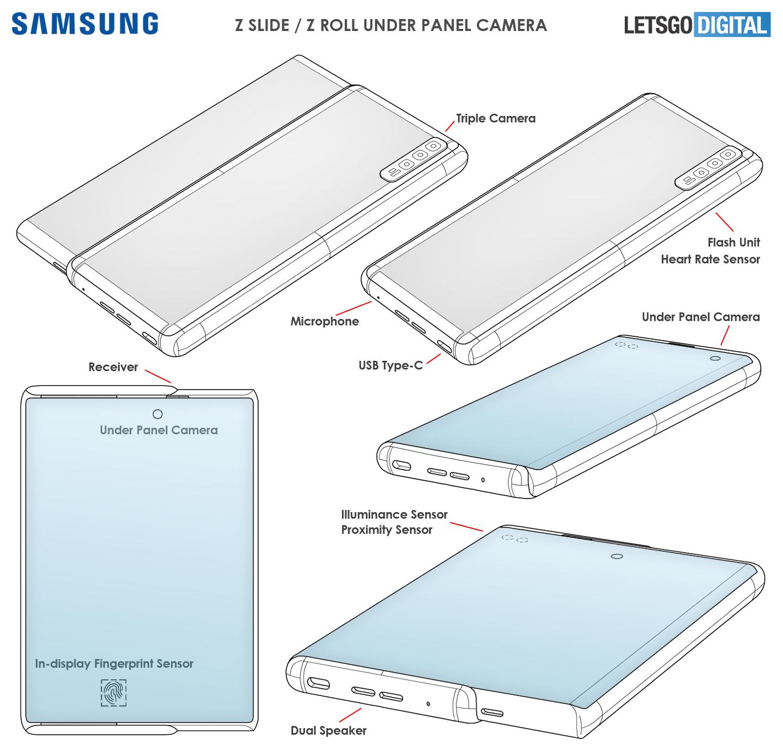 Samsung Galaxy Z Slide under panel camera