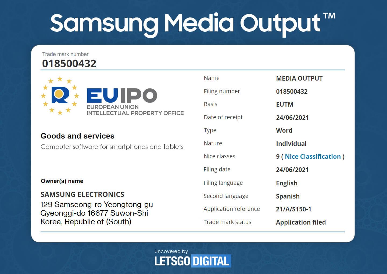 Samsung media output