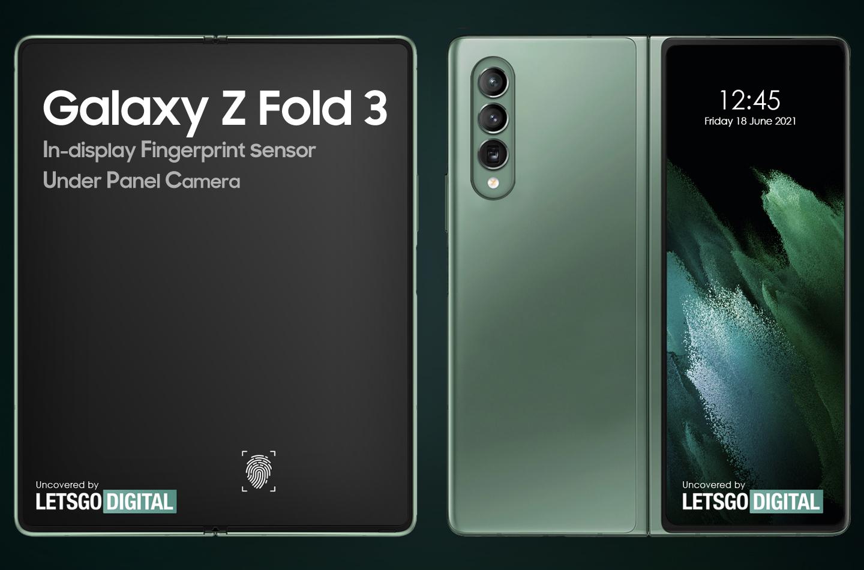 Samsung Z Fold 3 in-display vingerafdruksensor