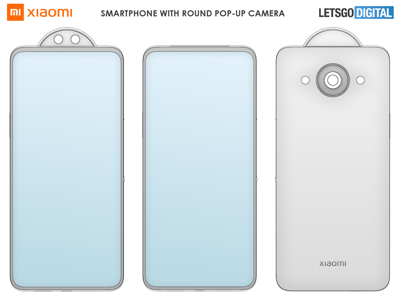 Xiaomi Mi smartphone ronde pop-up camera