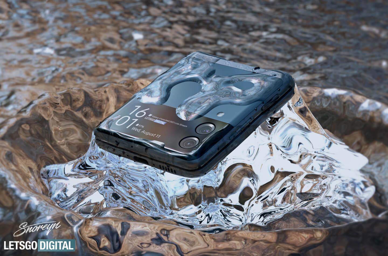 Galaxy Z Flip 3 waterdichte vouwtelefoon
