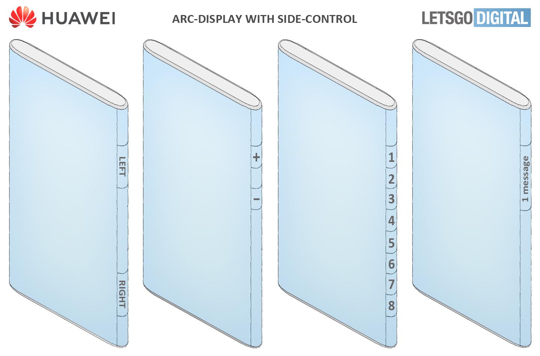 Huawei Mate smartphone super curved display
