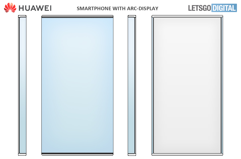 Huawei smartphone Arc display