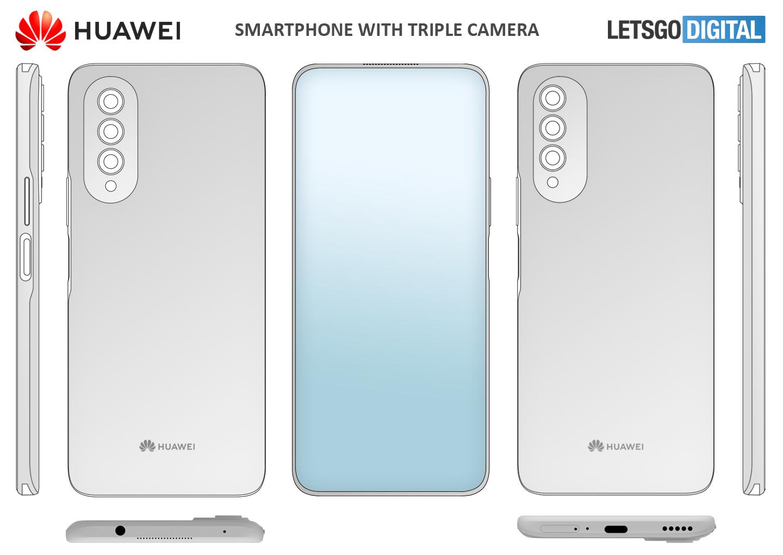 Huawei smartphone under display camera