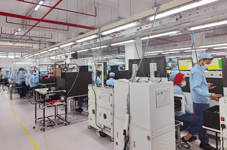 Oppo smartphone fabriek