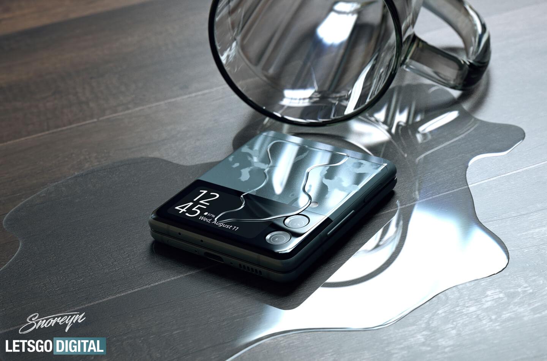 Samsung Z Flip 3 waterdichte opvouwbare telefoon