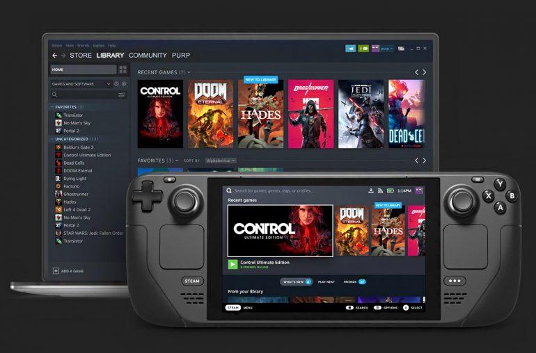 Valve Steam Deck gaming handheld