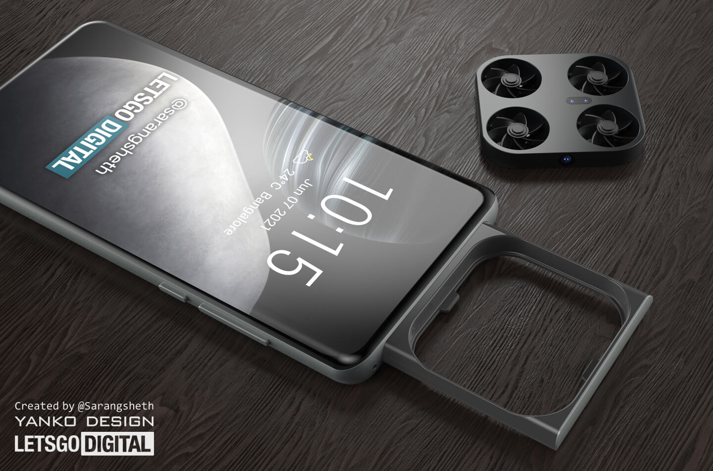 Vivo smartphone mini drone