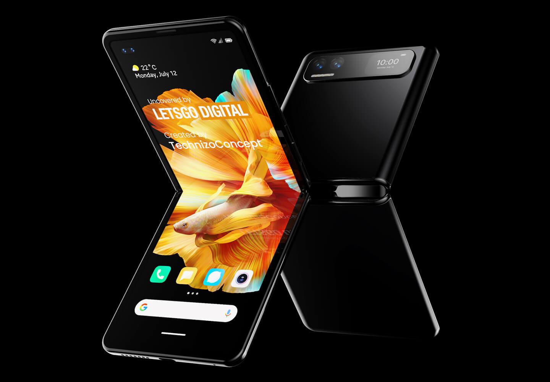 Xiaomi opvouwbare smartphone cover display