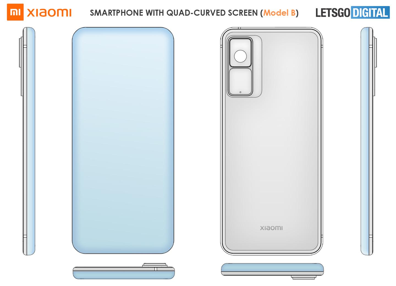 Xiaomi smartphone quad curved watervalscherm