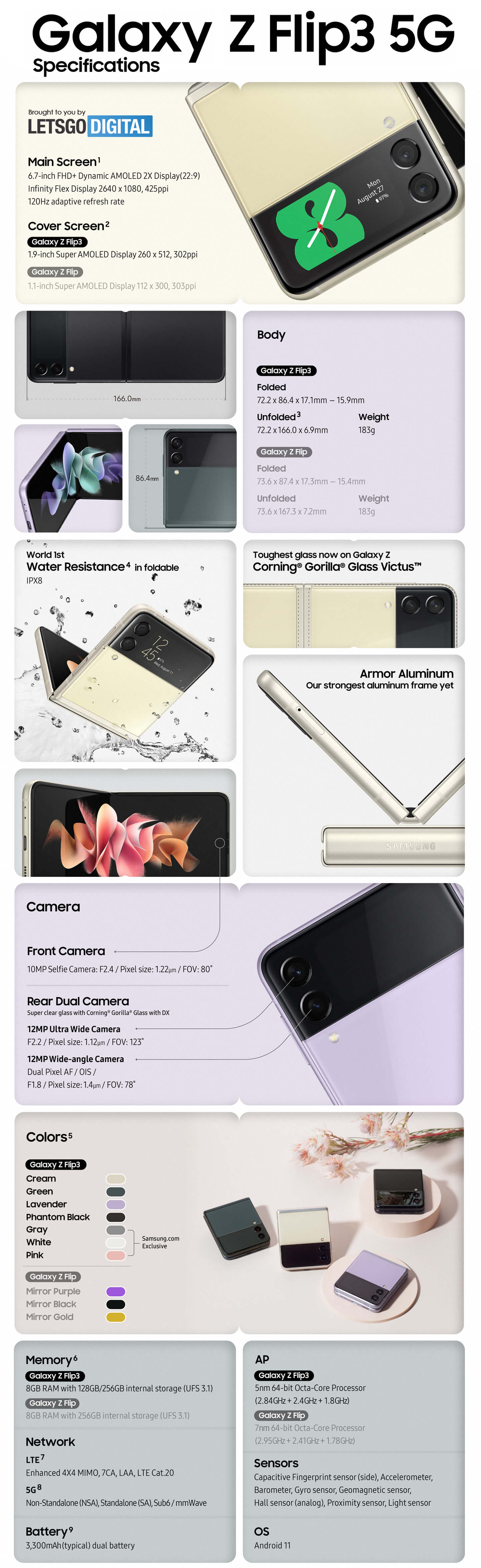 Galaxy Z Flip 3 specs