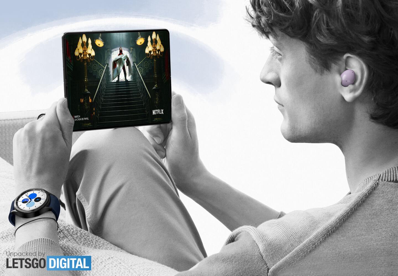 Galaxy Z Fold 3 opvouwbare smartphone