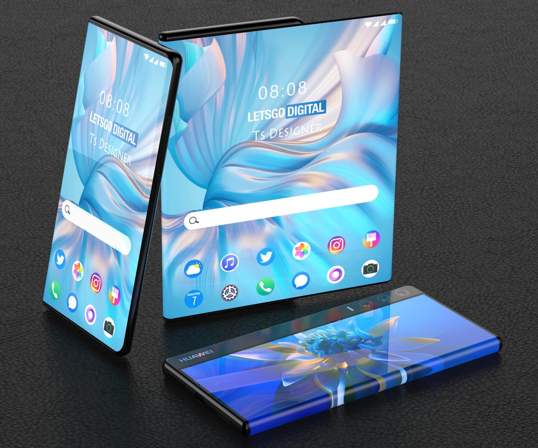Huawei Mate telefoon oprolbaar scherm