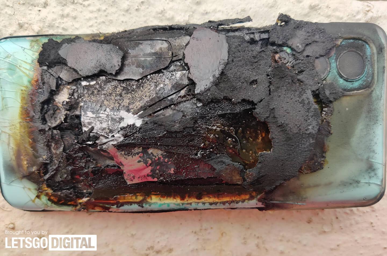 OnePlus smartphone batterij explodeert