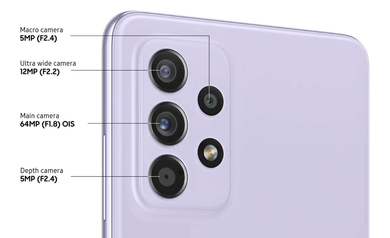 Samsung Galaxy A52s camera