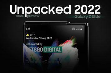Samsung Unpacked 2022 Galaxy Z Slide