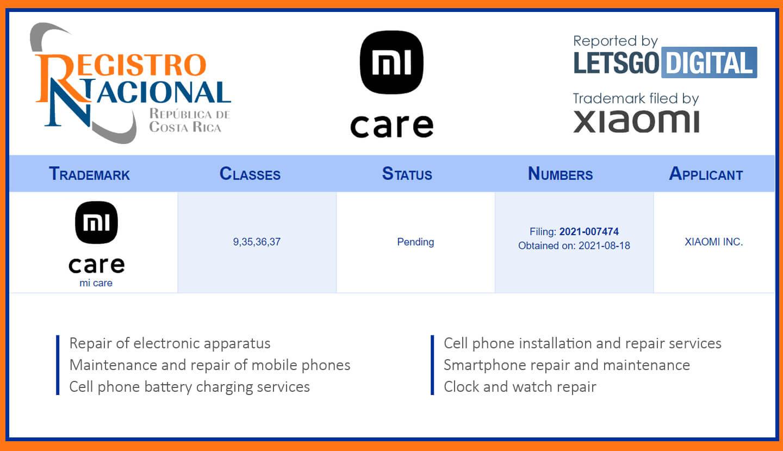 Xiaomi MiCare service