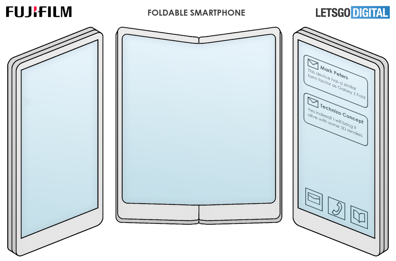 Fujifilm opvouwbare telefoon