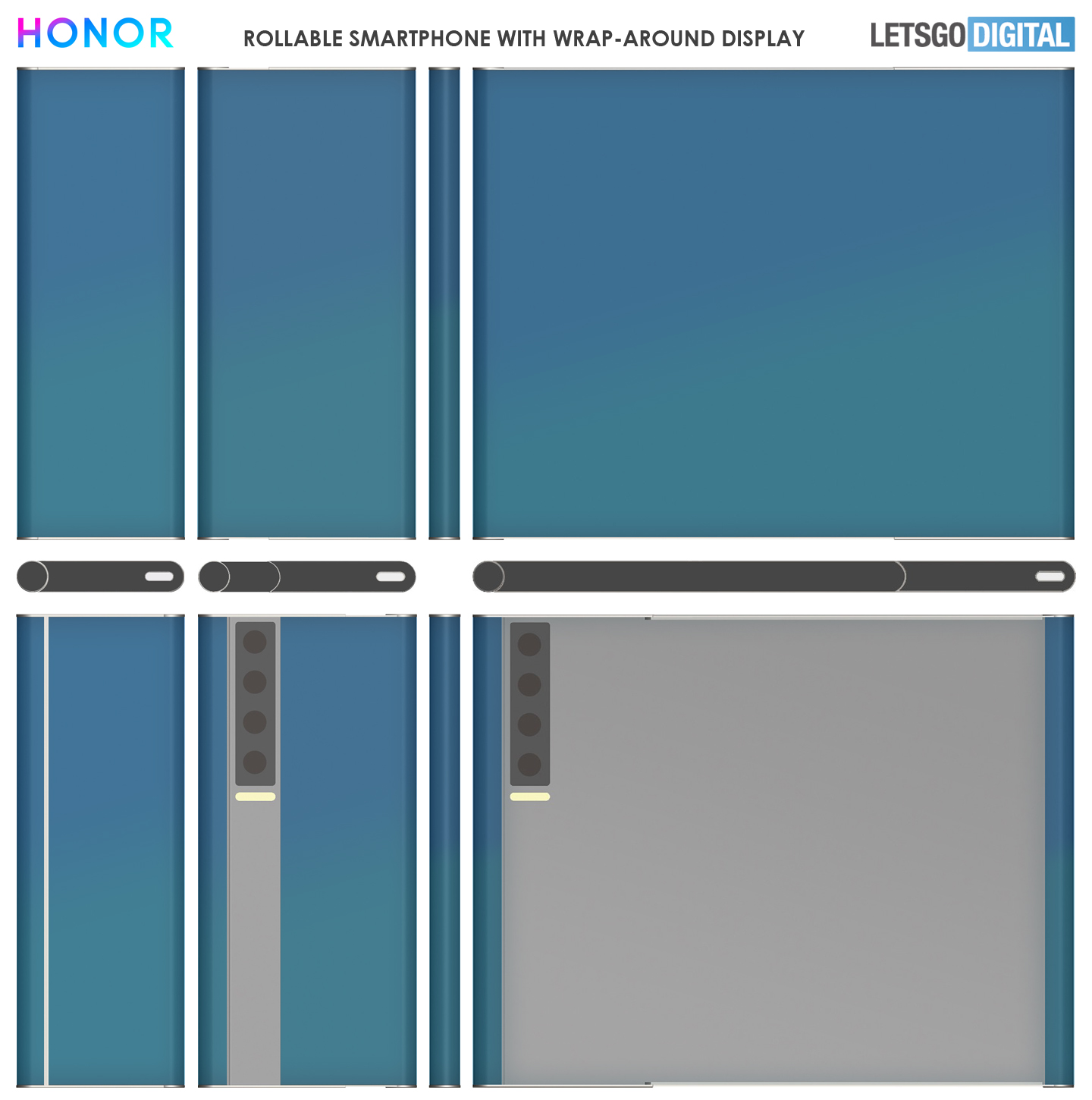 Honor rollable smartphone