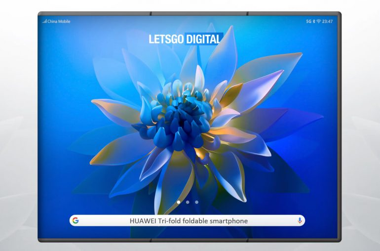 Huawei Mate opvouwbare smartphone Tri-Fold display