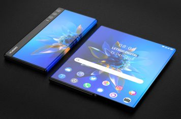 Huawei rollable smartphone gesture control