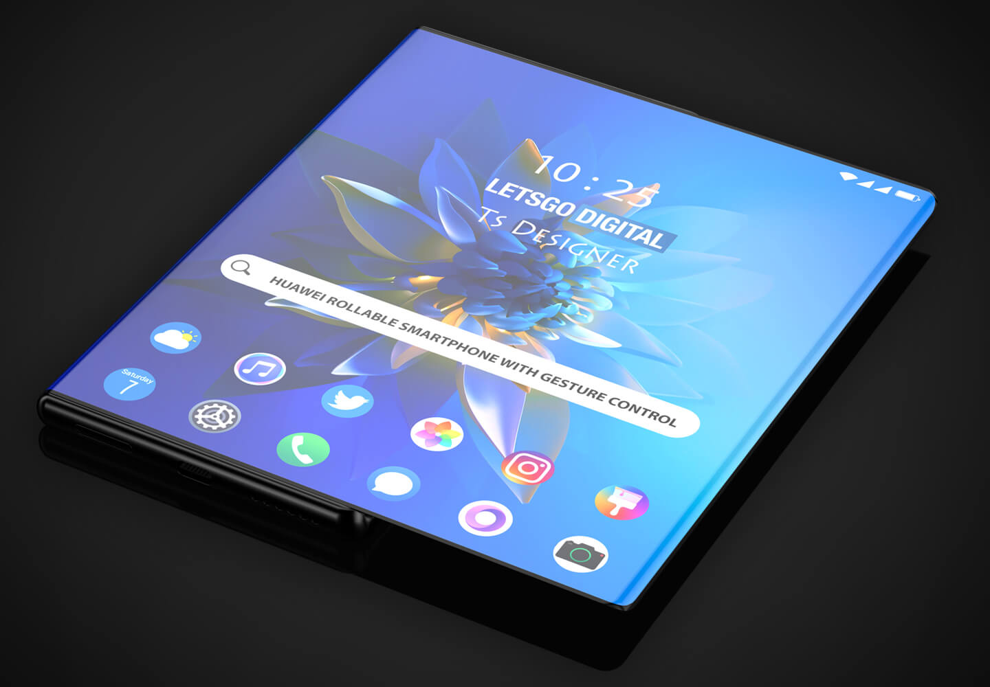Rollable smartphone
