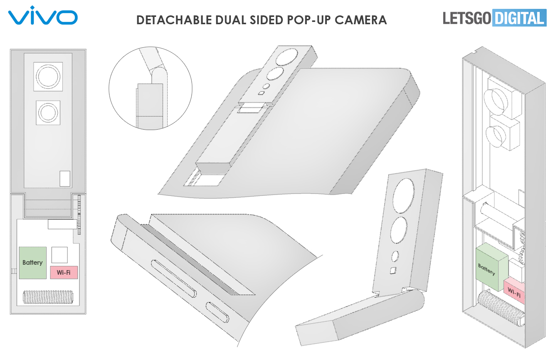Smartphone afneembare camera