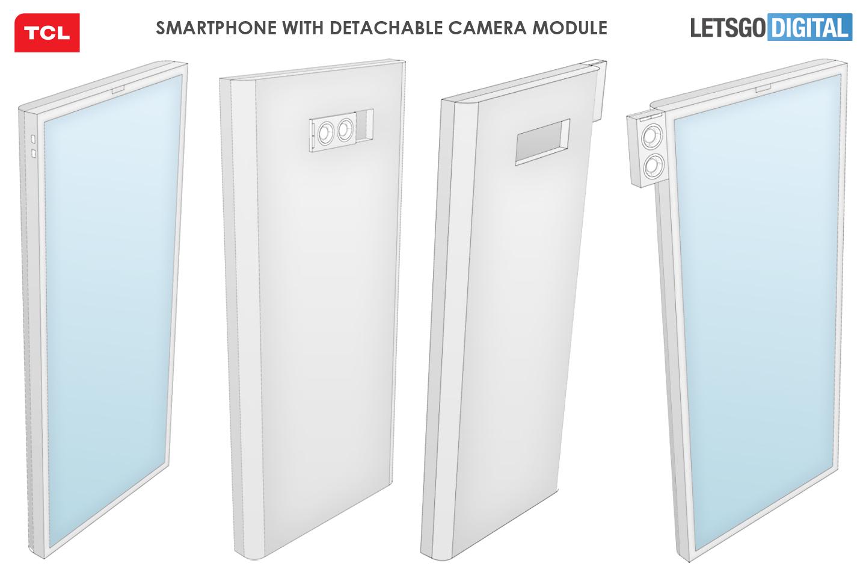 TCL smartphone uitneembare camera module