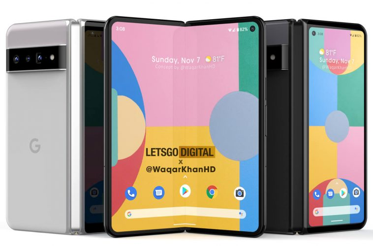 Google Pixel Fold opvouwbare smartphone