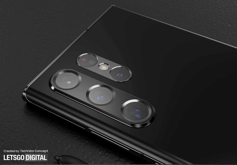 Samsung Galaxy S22 Ultra camera design